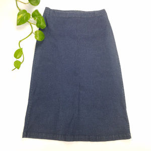 Eileen Fisher Midi Jean Denim Skirt Sz Petite S